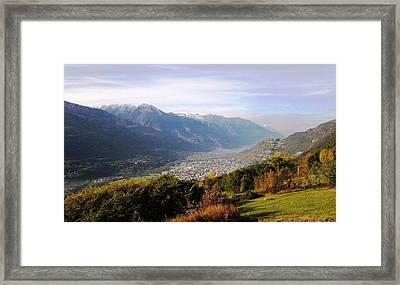 Mountain Panorama Framed Print by Giuseppe Epifani