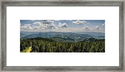 Framed Print featuring the photograph Mountain Panorama by Jaroslaw Grudzinski