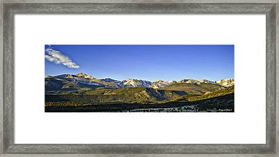 Mountain Panorama Framed Print by Tom Wilbert