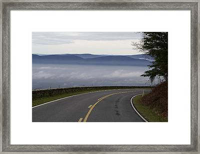 Mountain Pass Framed Print by Brooks Byrd