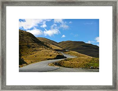 Mountain Pass Road Framed Print