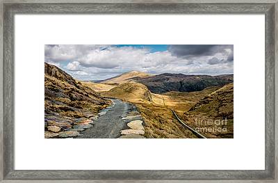 Mountain Path Framed Print by Adrian Evans