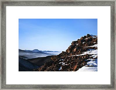 Mountain Peak Framed Print by Jelena Jovanovic