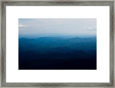 Mountain Peak Framed Print by Kim Fearheiley