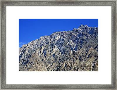 Mountain Peak Of The Hunza Valley Framed Print by Robert Preston