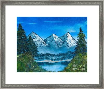 Mountain Pond Framed Print by Dave Atkins