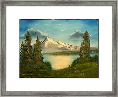 Mountain Pond Framed Print by Joyce Krenson