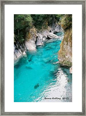 Framed Print featuring the painting Mountain Pool by Bruce Nutting