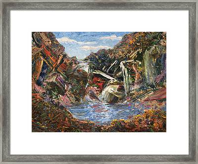 Mountain Pool Framed Print by James W Johnson