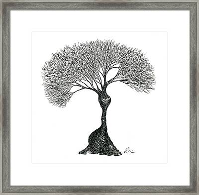 Mountain Pose Framed Print