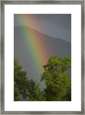 Mountain Rainbow Framed Print