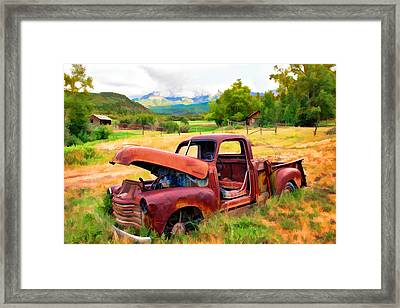 Mountain Ranch Truck Framed Print