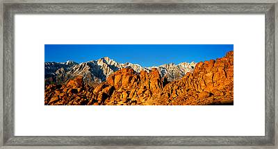 Mountain Range, Alabama Hills, Mt Framed Print by Panoramic Images