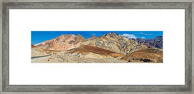 Mountain Range, Artists Drive, Death Framed Print