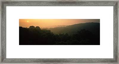 Mountain Range At Sunset, Great Smoky Framed Print by Panoramic Images