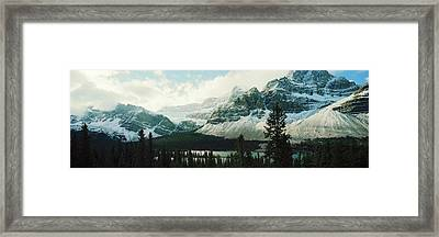 Mountain Range At The Lakeside Framed Print by Panoramic Images