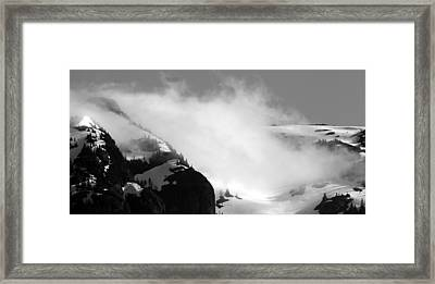 Mountain Range Black And White Three Framed Print by Diane Rada