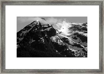 Mountain Range Black And White Two Framed Print by Diane Rada