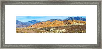 Mountain Range, Borax Mine, Death Framed Print by Panoramic Images