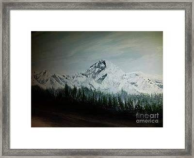 Mountain Range Framed Print by Pheonix Creations