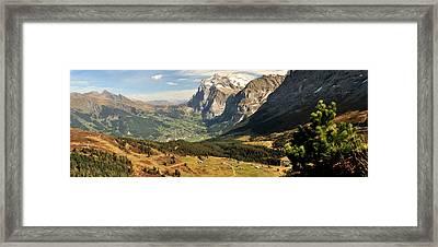 Mountain Range, Grindelwald, Kleine Framed Print by Panoramic Images