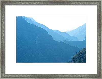 Mountain Range Landscape Framed Print