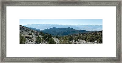 Mountain Range, White Mountains Framed Print