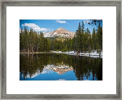 Mountain Reflecting Framed Print