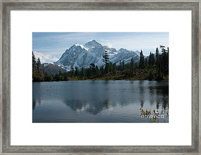 Framed Print featuring the photograph Mountain Reflection by Rod Wiens