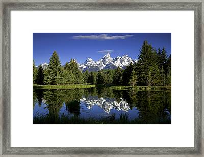 Mountain Reflections Framed Print by Andrew Soundarajan