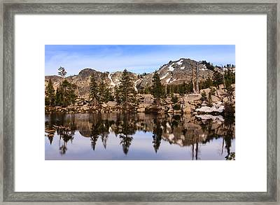 Mountain Reflections Framed Print by Karma Boyer