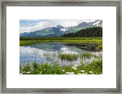 Mountain Reflections Framed Print by Tracey Hunnewell
