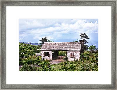 Mountain Rest Stop Framed Print