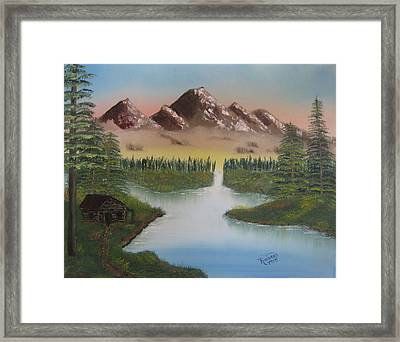 Mountain Retreat Framed Print by Kimber  Butler