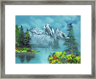 Mountain Retreat Framed Print