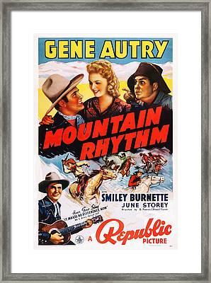 Mountain Rhythm, Top L-r Gene Autry Framed Print