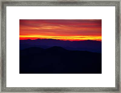 Mountain Ridges After Sunset Framed Print by Andrew Soundarajan