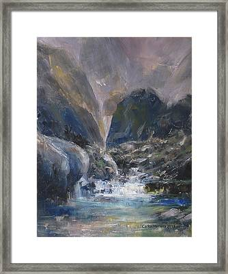 Mountain River Framed Print by Carlos Herrera