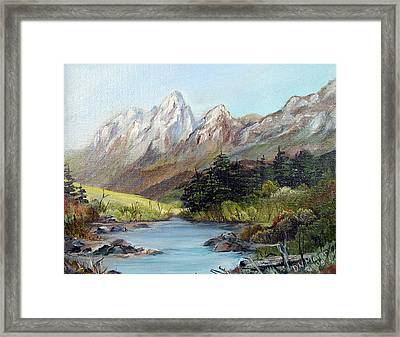 Mountain River Framed Print by Dorothy Maier
