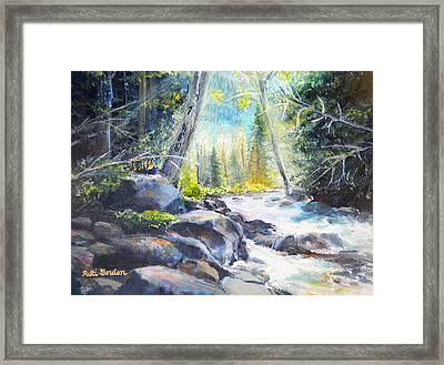 Mountain River Glow Framed Print