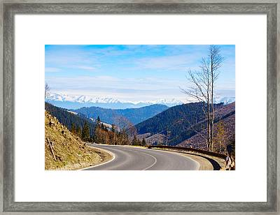Mountain Road In A Valley, Tatra Framed Print by Panoramic Images