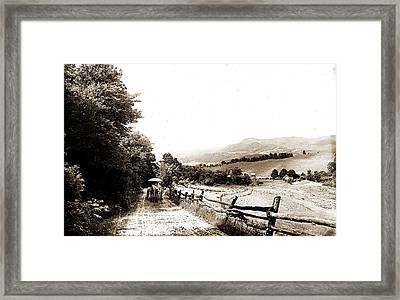 Mountain Road In The Berkshires, Roads, Mountains Framed Print