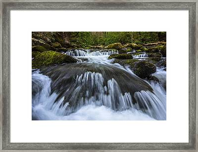 Mountain Rush Framed Print by Mike Lang
