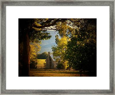 Mountain Scene Framed Print by Joyce Kimble Smith