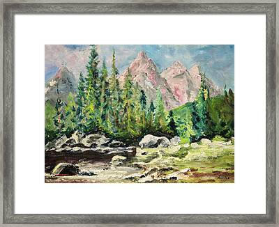 Mountain Scene Framed Print