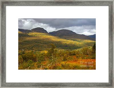 Mountain Scenery In Fall Framed Print by Gry Thunes