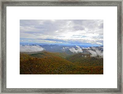 Mountain Seasons Framed Print by Susan Leggett