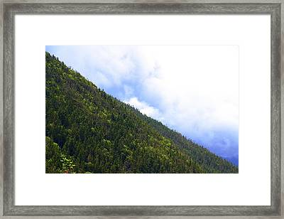 Mountain Side Framed Print