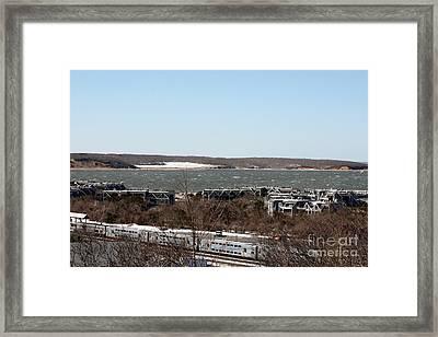 Mountain Side View Of Gardiner's Bay Framed Print by John Telfer