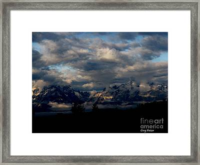 Mountain Silhouette Framed Print by Greg Patzer